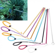Colorful Aluminium Alloy Dive Lobster Stick Rod Diving Crowbar Hand Rope Lanyard Shaker Noise Maker to Explore Underwater Life