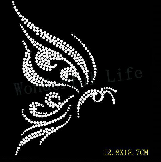 a57a1182 Free Shipping nice butterfly fyling design for skirts hotfix heat transfer  rhinestone Motif hotfix rhinestone for garment