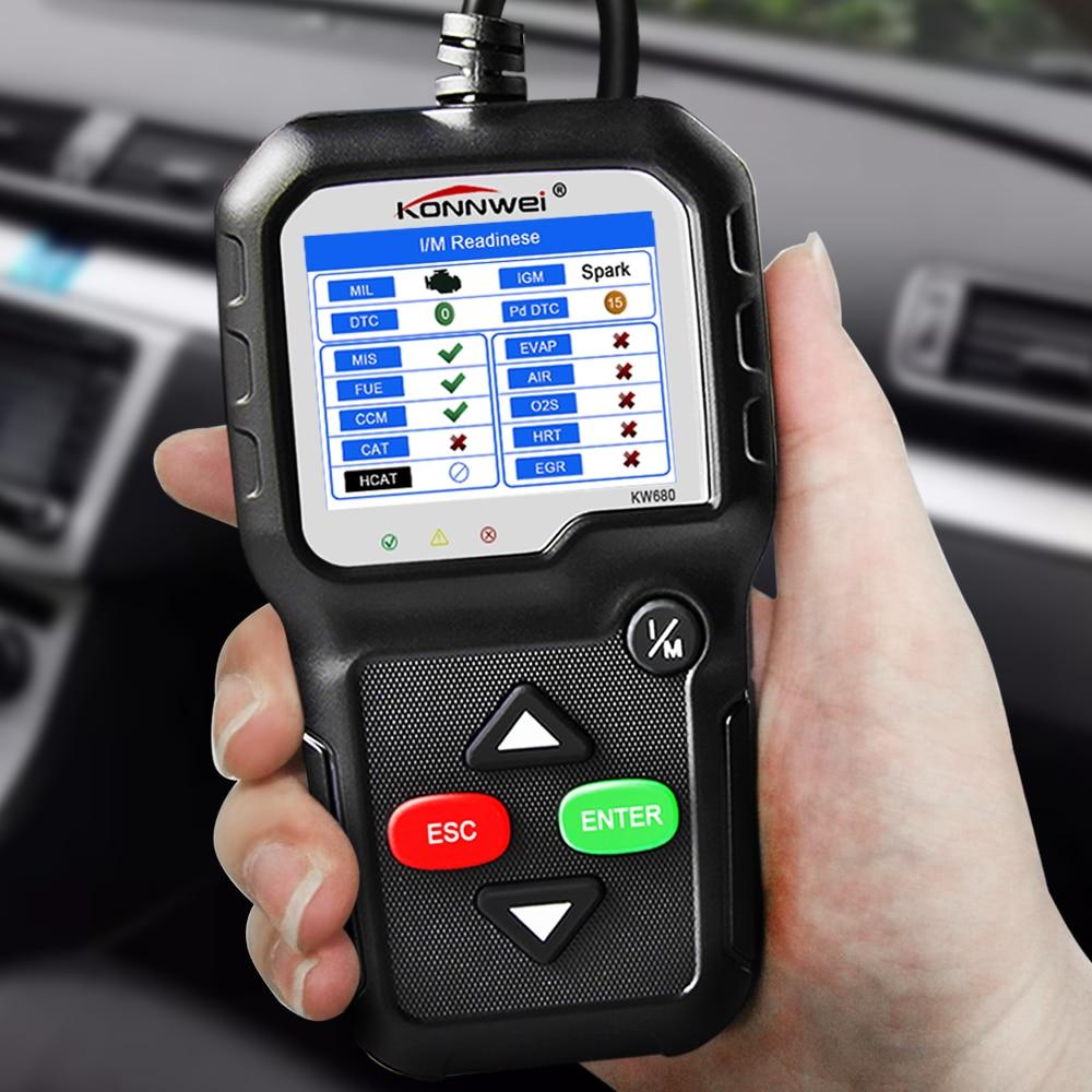 Image 5 - OBD2 Scanner OBD Car Diagnostic Auto Diagnostic Tool KONNWEI  KW680 Read Clear Fault Error Codes Russian OBD2 Automotive ScannerCode  Readers