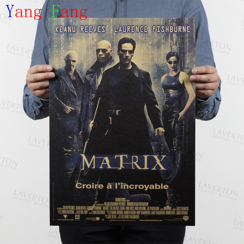 Vintage Kraft Paper Poster About America super hero The Matrix home decor for Living Room Retro Wall Sticker Art Crafts 51*35CM
