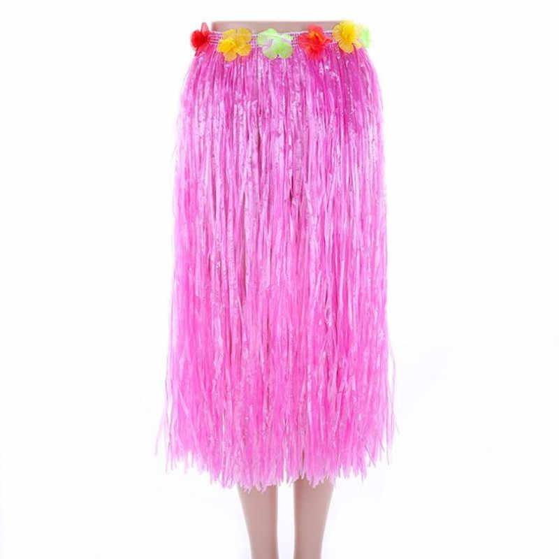 40 Cm 80 Cm Chiều Dài Sợi Nhựa Cỏ Váy Hula Váy Hawaii Trang Phục Nữ Đầm Nữ Sinh Nhật Trang Trí Đám Cưới