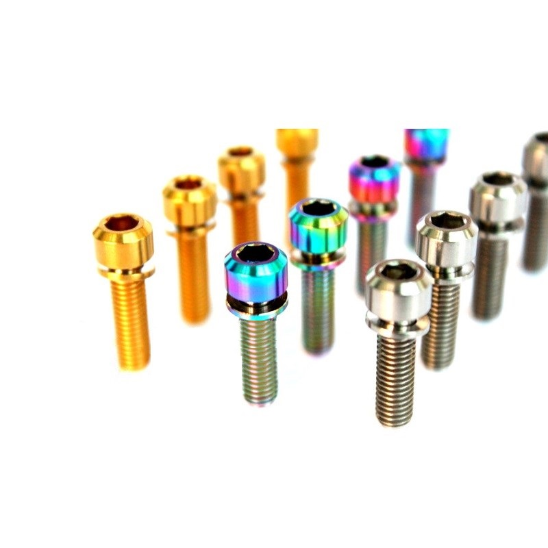 M5*16/18/20mm Mountain Bike Handle Bolts Titanium Alloy Bicycle Handle Cylindrical Head Screw Cycling Road Bike Stem Fixed Lock