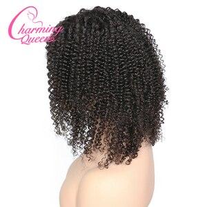 Image 3 - Charming Queen ผ้าไหมฐาน Wigs ลูกไม้เต็มรูปแบบผมมนุษย์ Wigs สำหรับผู้หญิง 150% Afro Kinky CURLY บราซิล Remy Wigs ผมผมเด็ก
