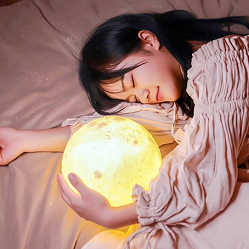 Acheter Creative 3D Impression Lune Lampe avec Tactile Commutateur de Détection 3D Lunaire Lampe Couleur Modifiable Night Lights Pour Décoration 2B0282 de Figurines et Miniatures fiable fournisseurs