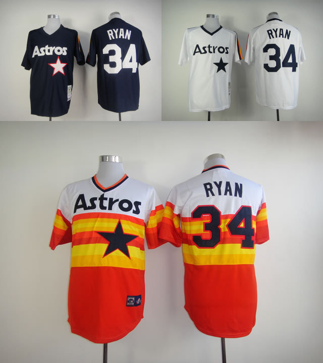 quality design b1d4b c610d Houston Astros #34 Nolan Ryan Jersey Retro Vintage Nolan ...