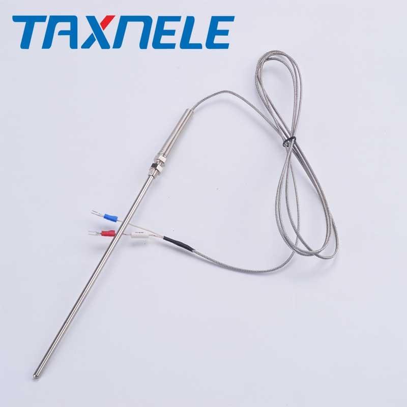 K type Thermocouple Stainless Steel Probe Thermocouple 100mm 200mm 2m Cable Wire Length,Thermocouple 0~400C Temperature Sensor