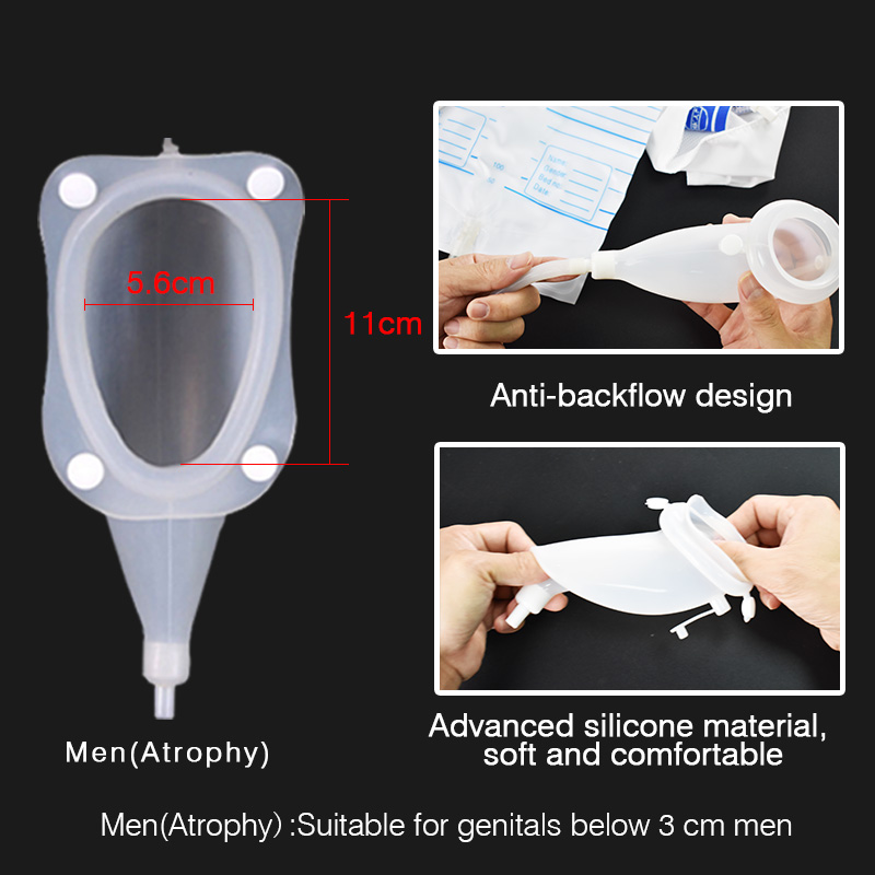 Image 4 - Hypo allergenic Older Men Woman Silicone Urine collector Bags Adults Urinal with Urine Catheter Bags Male Female ToiletFeminine Hygiene Product   -