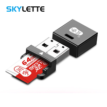 4 Color MiNi USB2.0 Card Reader TF / MicroSD / MicroSDHC / MicroSDXC All In 1 Po