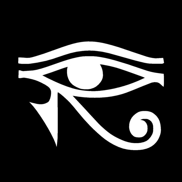 Hotmeini 10cmx8cm Eye Of Ra Horus Egyptian God Vinyl Decal Sticker