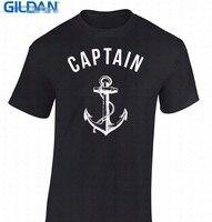 Mais novo 2017 Moda Masculina Camiseta Casual Camisetas de Manga Curta O-pescoço Dos Homens do Capitão Do Mar Marinheiro Náutico Navio da Marinha Camisetas