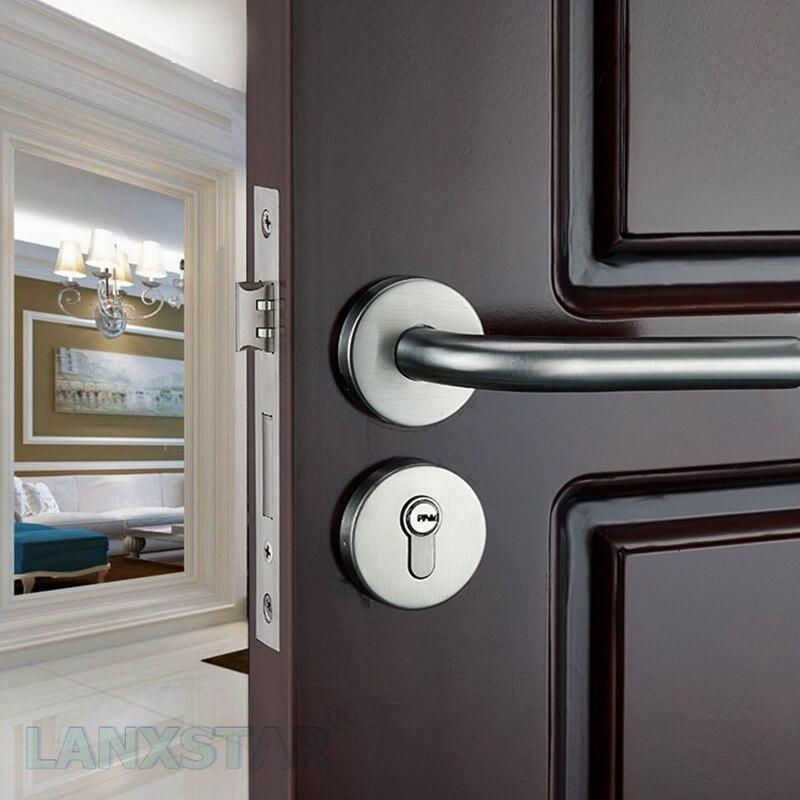 Factory Homegrown Supply High Quality Stainless Steel Lock Indoor Door Locks Mute Lockcore Handle-lock