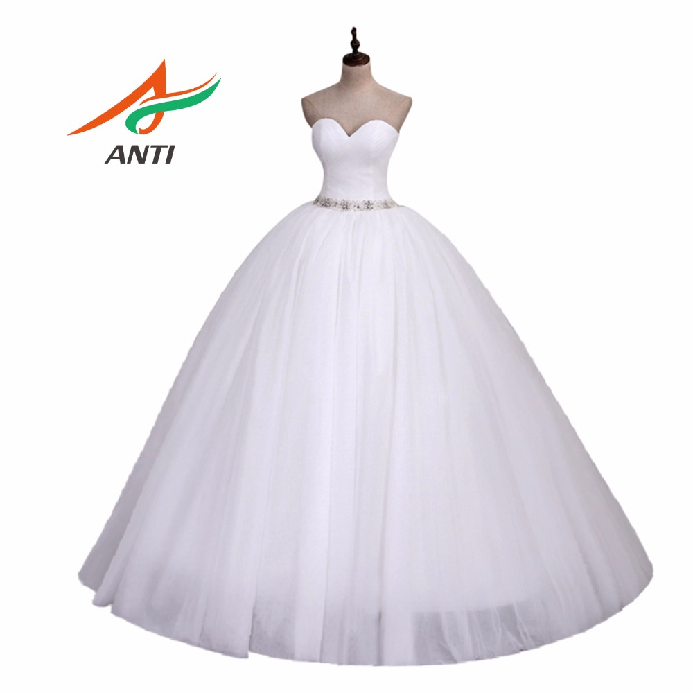 ANTI Romantik 2018 Gaun Ball Sweetheart Neckline Wedding Dress Jubah Vestido De Noiva Curto Abiti Da Sposa Vnaix