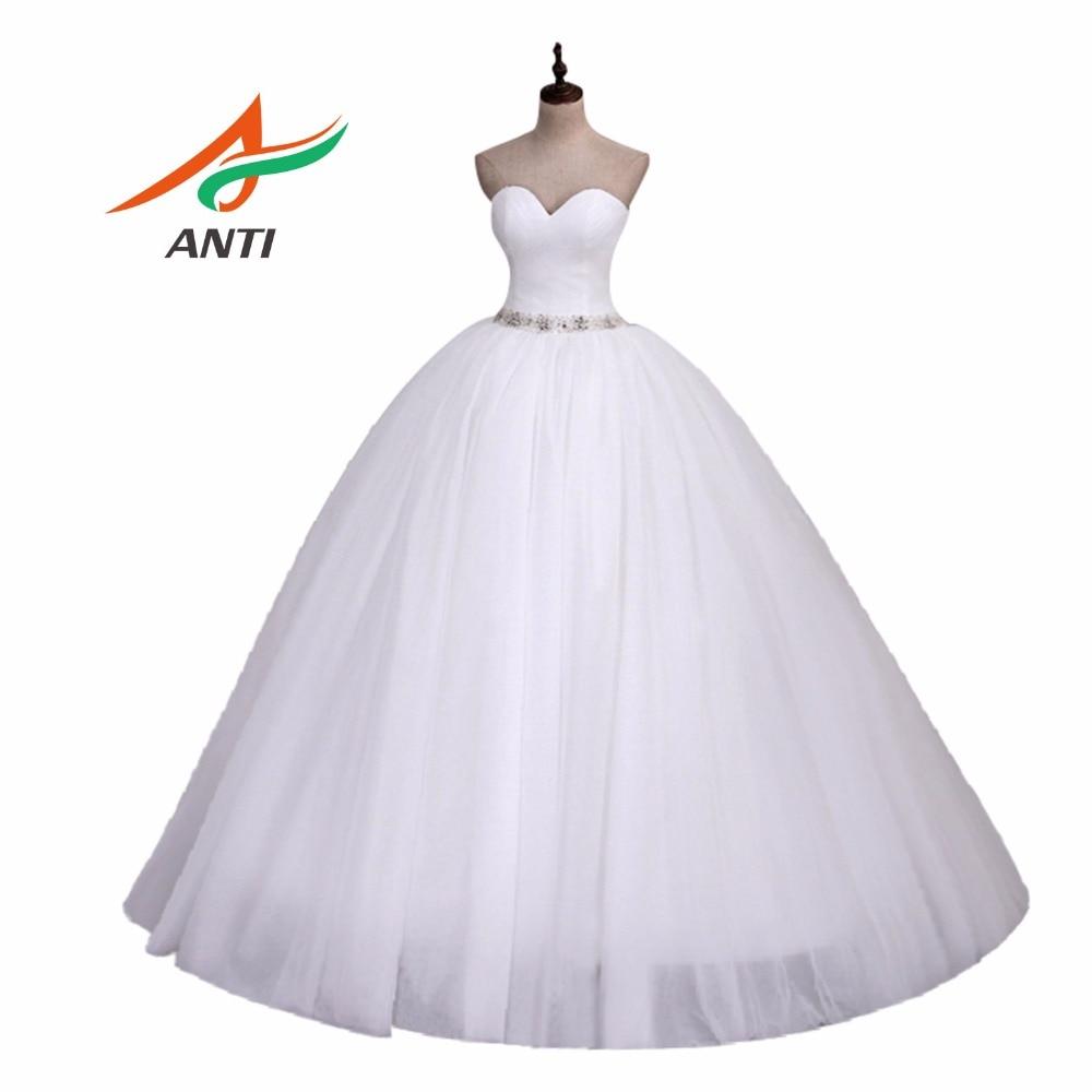 ANTI Romantic 2018 Ball Gown Sweetheart Neckline Wedding Dress Robe De Mariee Vestido De Noiva Curto Abiti Da Sposa Vnaix