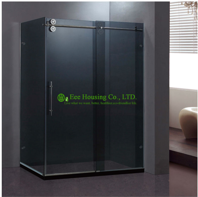 Shower Room Best Price Whole Shower 304 Stainless Steel Complete Square Sliding Mobile Frameless Sliding Tempered Glass