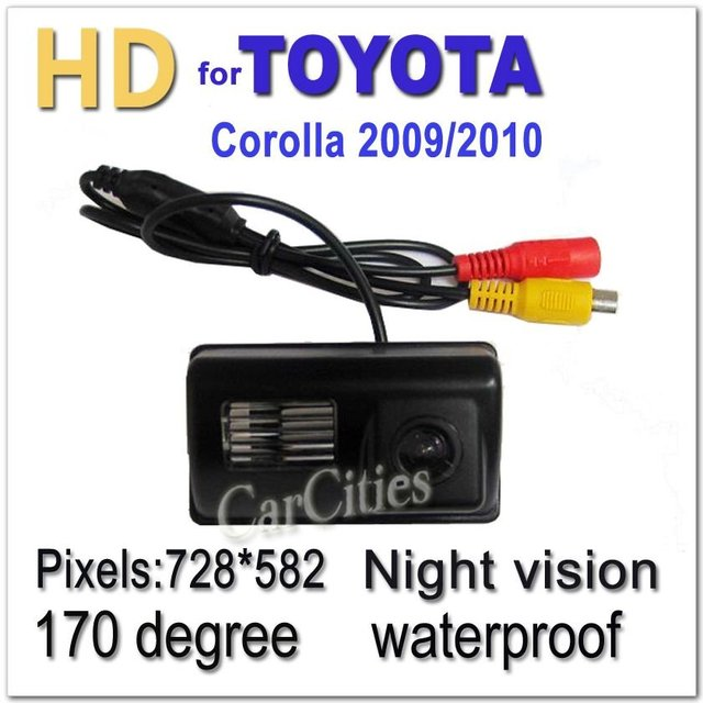 CCD HD auto rearview camera170 degree for Toyota Corolla 2009,2010 Waterproof Shockproof Night version camera Size:68*42.43.3 mm