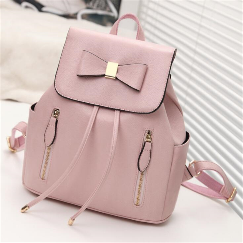 BARHEE Fashion Backpack Leather Shoulder Bag High Quality School Bags for Girls lolita Class Bowtie Travel pochette drawstring high end kocotree ergonomic elementary school bag books child children backpack portfolio for girls for class grade1 3 free ship