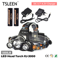 TOP!54 +Sale!+ 5000LM LED Head Torch Flashlight 18650 Battery Operated Headlight + Charger # TSLEEN