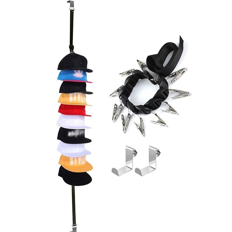New Baseball Cap Rack Hat Holder Rack Home Organizer Storage Door Closet Hanger storage organizer Hat Hanger For Door in Hooks Rails from Home Garden