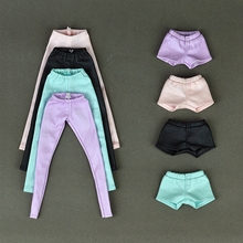 High Quality Elastic Leather Bottoms Pants Trousers For Barbie Doll Clothes Fashion Outfit For 1 6