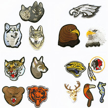 hot deal buy  forest animal patchwork patch embroidered patches for clothing iron-on for close shoes bags badges embroidery