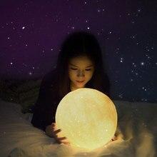 1 Pcs 3D Print Brightness Moon Lamp Perf