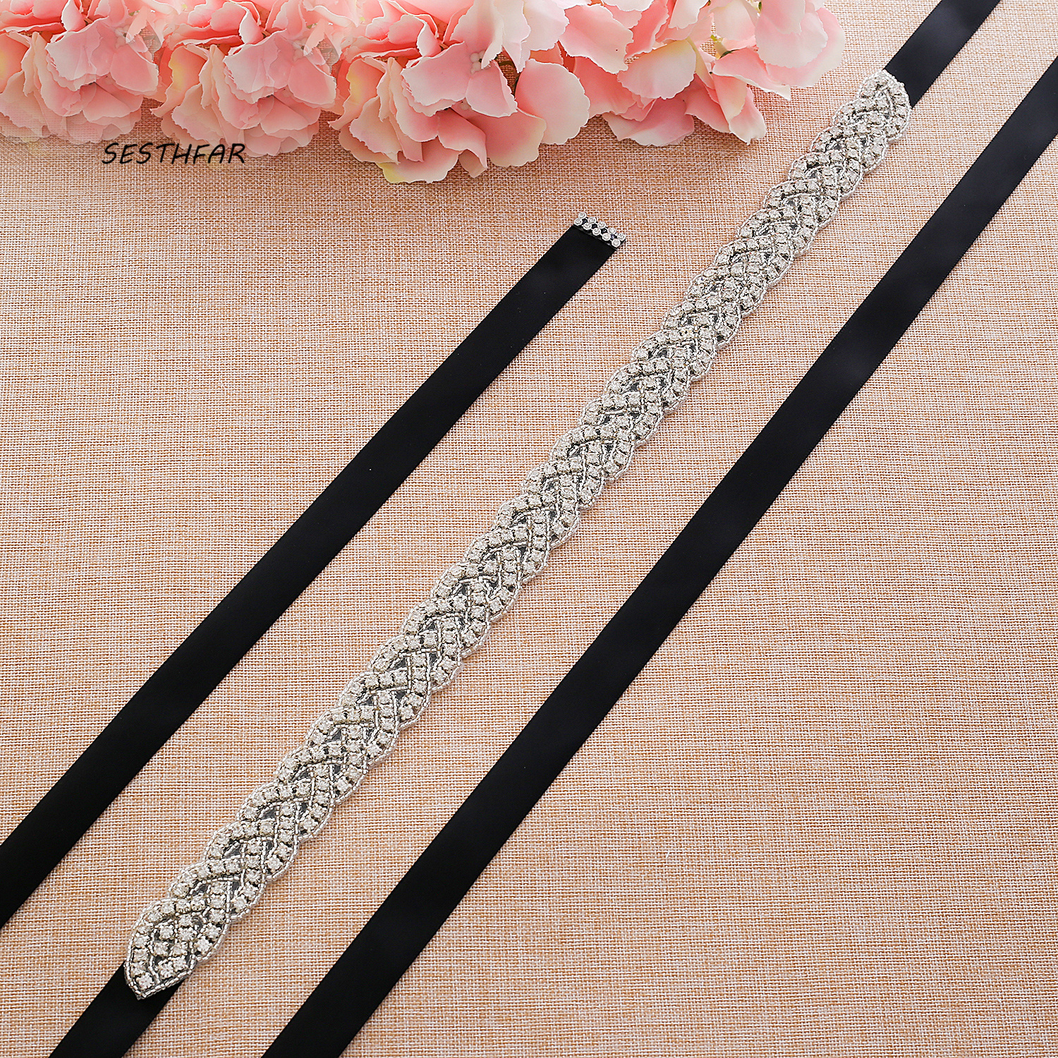 Rhinestones Bridal Belt Wedding Dress Belt Accessories Marriage Bridal Sashes Can Customize Any Size J116