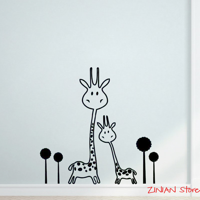 giraffe wall sticker vinyl wall decal removable baby nursery cool