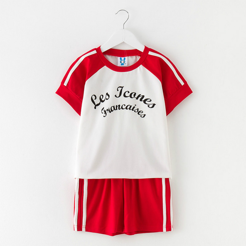Tanggetu Baby Girl Clothes Suit in Summer Leisure Clothing 2018 New Pure Cotton Letters Printing T Shirt and Shorts Two Pieces 2016 new summer baby sport suit 100