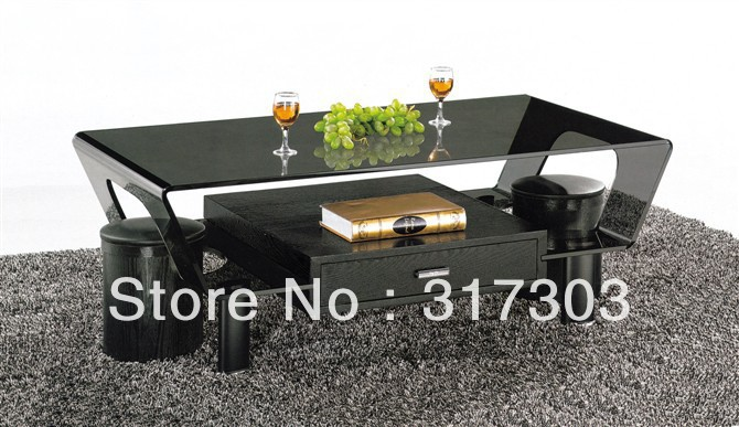stainless steel foot, glass tea tables with drawer, round stool table, livingroom furniture,coffee table,color glass painting A2 coffee wenge wood furniture ming and qing classical mahogany tea table tea table tea table tea tables cooker
