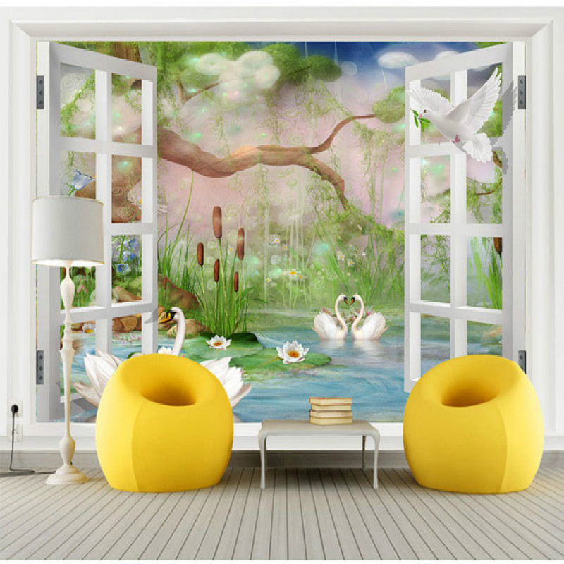 Mural Wallpaper 3D Wallpaper Natural Living Room Mural 3D Wallpapers Tv Sofa Background Wall Paper Decoration Oil Painting vintage beautiful mahogany living room large mural wallpaper living room bedroom wallpaper painting tv background wall wallpaper