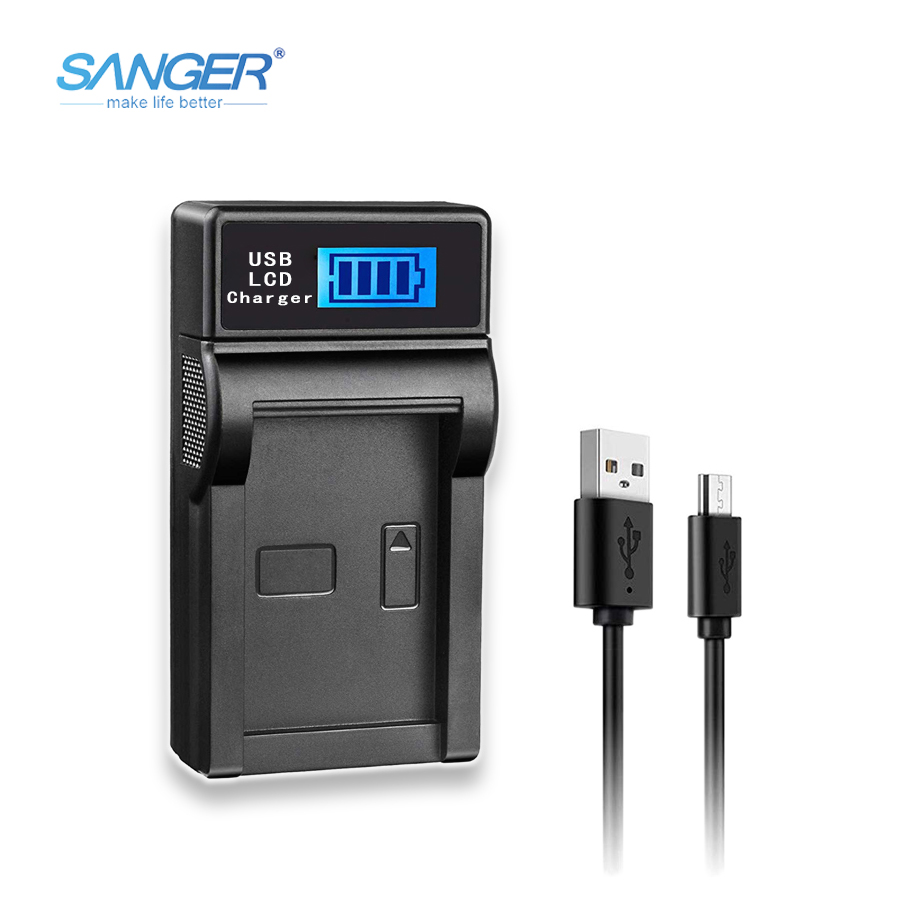SANGER USB Camera Charger for <font><b>Sony</b></font> NP-FW50 Battery Fit <font><b>Alpha</b></font> NEX F3 6 5 5N 5R 5T 3N C3/5 7 SLT A33 A37 A55 A3000/<font><b>3500</b></font> A5000/5100 image