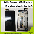 1 pcs negro cor display lcd + touch screen digitador assembléia com quadro para redmi note 3