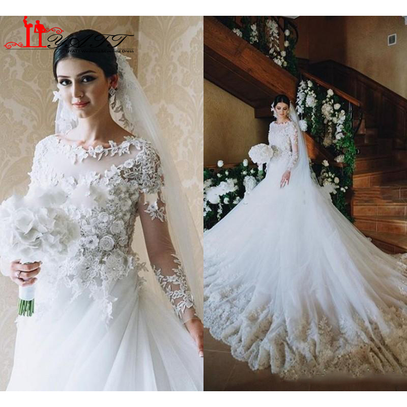 Victorian Wedding Dress 2016 A Line Scoop Vintage Long Sleeves