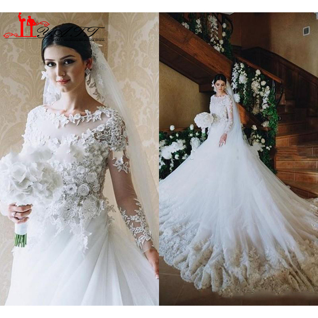 Victorian Wedding Dress 2016 A Line Scoop Vintage Long Sleeves ...