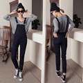 Women New Fashion Salopette Dungarees jeans street fashionista  Ladies new black skinny jeans pants female trousers C0002