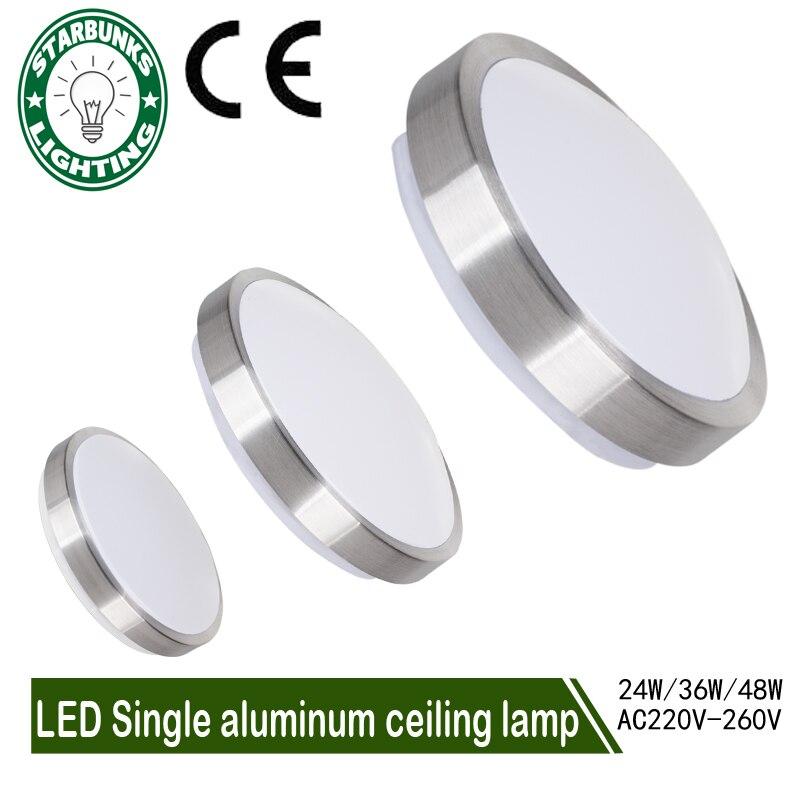Deckenleuchten LED Moderne Beleuchtung Schlafzimmer Wohnzimmer Lampenschirme Oberflache Montiert Balkon 24 Watt 36 48 AC220V 260V Deckenleuchte In
