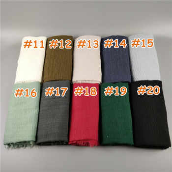 V2 10pcs 1lot Hot sale Wrinkle bubble plain scarf/scarves crinkle fringes women soft maxi hijabs popular shawls