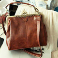 1pc/lot 2017 Newest Women's Europe Style PU Leather Vintage Bag Retro Design Handbag Crossbody Shoulder Bags Dark Brown 640215