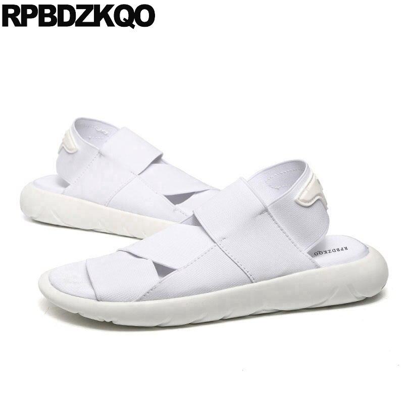 603db4c85770 Designer Fashion Strap Sport Flat Roman Japanese Platform Sneakers Men  Gladiator Sandals Summer White Elastic Shoes