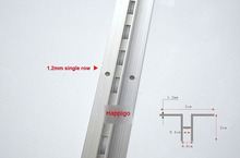 2.4 Meters AA rails Single row column aluminium bar DIY shelf track slide furniture accessories