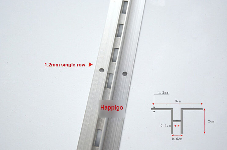 2.4 Meters AA Rails Single Row Column Pole Aluminium  Bar DIY Shelf Track Slide Rod Furniture Accessories