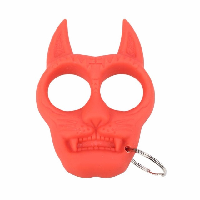 Key Chain Tactical Guard Tigger Head PVC Key Chain Tools Universal Camping Climbing Hiking Tools Outdoor Tool Drop shipping