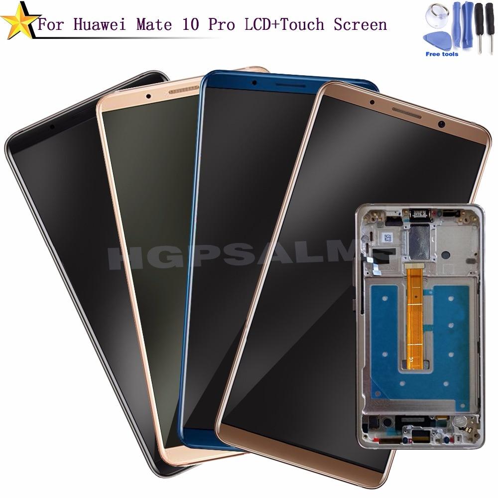 Per Huawei Mate 10 pro Display LCD Touch Screen Digitizer Assembly con cornice di Ricambio Parti + strumenti gratuiti