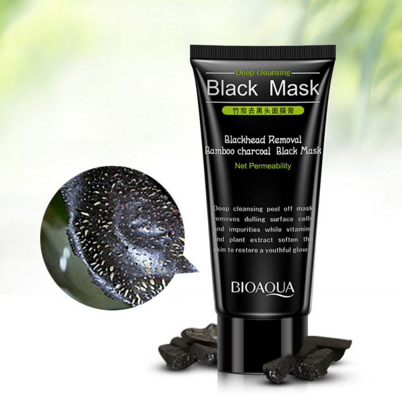 Strong Blackhead Remove Shrink Pores Natural Bamboo Charcoal Black Head Pore Purifying Peel Off Mask Комедон