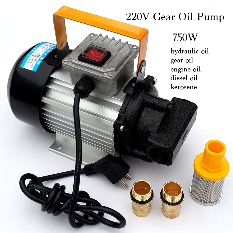 220V 750W Electrical Self-priming Gear Oil/diesel oil Pump Oil Filling Machine flower pattern mesh ankle socks
