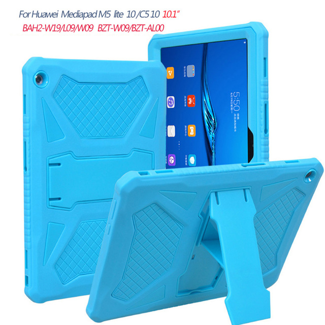 For Huawei MediaPad M5 Lite 10 10.1'' Heavy Duty Shockpoof Armor Case For Huawei M5 Lite 10 BAH2-W19/L09/W09 Kickstand Cover
