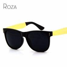b5934619689dc ROZA Marca Projeto Qualidade Top Retro Óculos De Sol Dos Homens Super Black    Gold Moda Clássicos Óculos de Sol UV400 QC0069