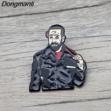 L3641 HOT TV The Walking Dead Negan Enamel Pin Brooches Cartoon Creative Metal Brooch Pins Denim Hat Badge Collar Jewelry 1pcs