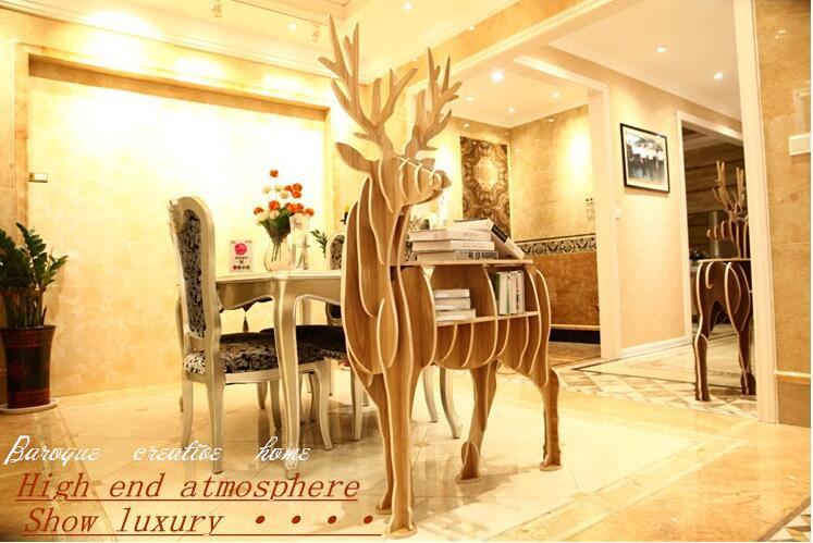 Large Elk shape Book shelf living room font b decoration b font font b table b