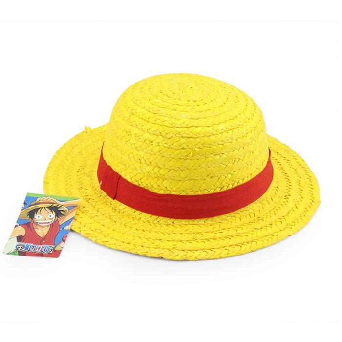 1 Pcs Anime Cartoon One Piece Luffy Cosplay Sun Straw Hat Costume Performance Hat